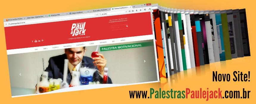 Novo site Palestras Paul&Jack – Tudo redesenhado para você